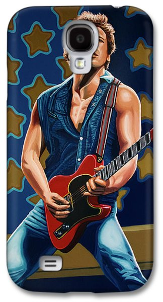 Musicians Galaxy S4 Case - Bruce Springsteen The Boss Painting by Paul Meijering