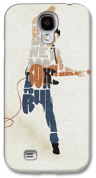 Bruce Springsteen Galaxy S4 Case - Bruce Springsteen Typography Art by Inspirowl Design