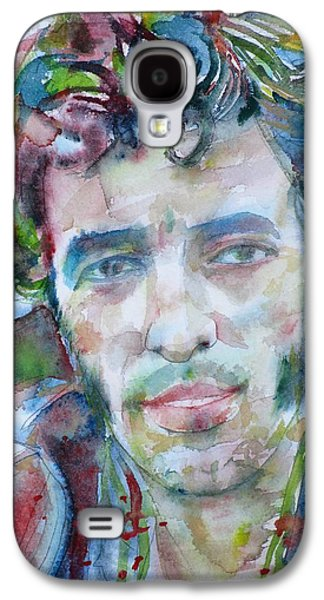 Bruce Springsteen - Watercolor Portrait.12 Galaxy S4 Case