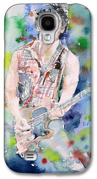 Bruce Springsteen - Watercolor Portrait.4 Galaxy S4 Case