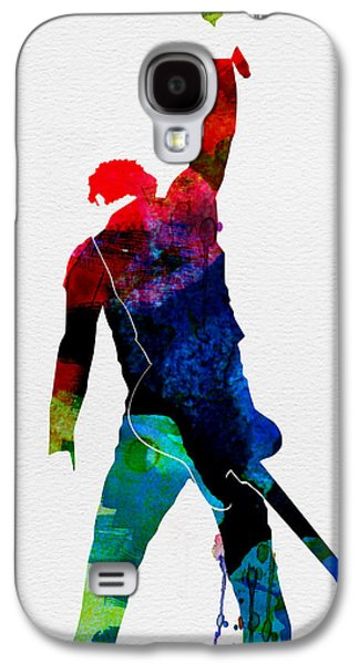 Musicians Galaxy S4 Case - Bruce Watercolor by Naxart Studio