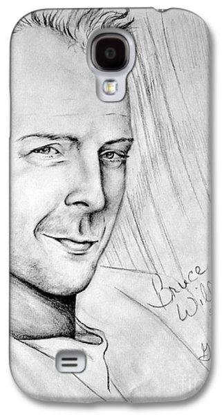 Bruce Willis 1980s Galaxy S4 Case by Georgia's Art Brush