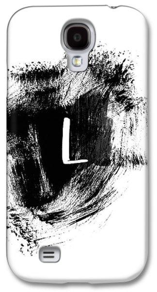 Brushstroke L -monogram Art By Linda Woods Galaxy S4 Case