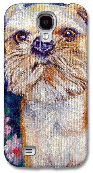 Griffon Galaxy S4 Case - Brussels Griffon by Lyn Cook