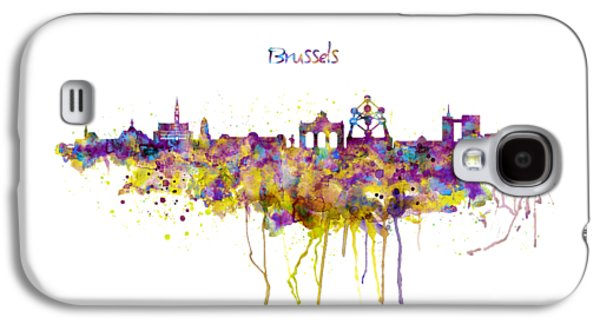 Brussels Skyline Silhouette Galaxy S4 Case