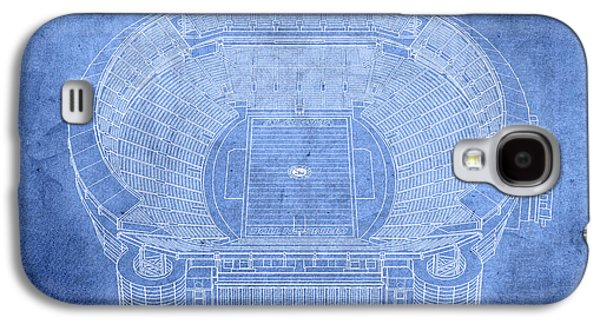 Bryant Denny Stadium Alabama Crimson Tide Football Tuscaloosa Field Blueprints Galaxy S4 Case by Design Turnpike