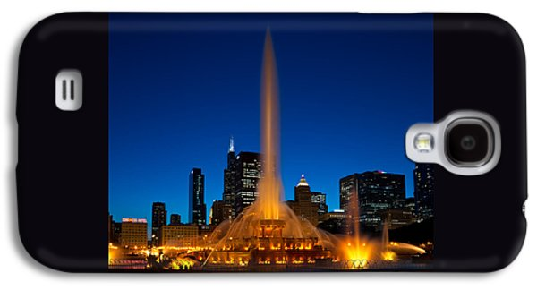 Chicago Galaxy S4 Case - Buckingham Fountain Nightlight Chicago by Steve Gadomski
