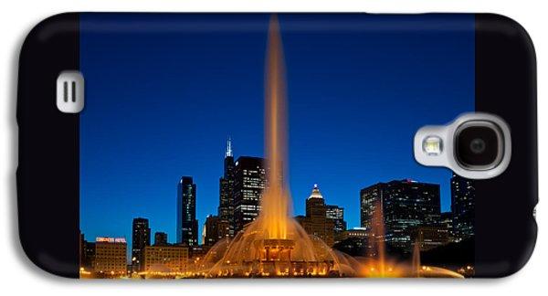 Buckingham Fountain Nightlight Chicago Galaxy S4 Case by Steve Gadomski
