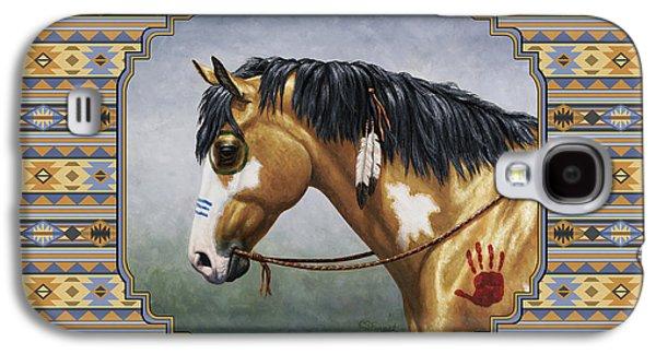 Buckskin Native American War Horse Southwest Galaxy S4 Case by Crista Forest