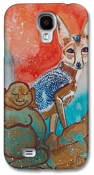 Buddha And The Divine Kit Fox No. 1373 Galaxy S4 Case by Ilisa Millermoon