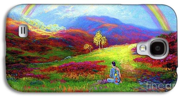 Buddha Chakra Rainbow Meditation Galaxy S4 Case by Jane Small