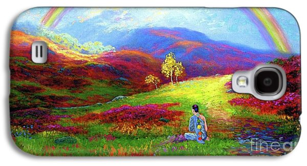 Buddha Chakra Rainbow Meditation Galaxy S4 Case by Jane Small