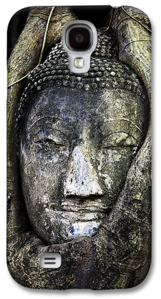 Religious Galaxy S4 Cases - Buddha Head in Banyan Tree Galaxy S4 Case by Adrian Evans