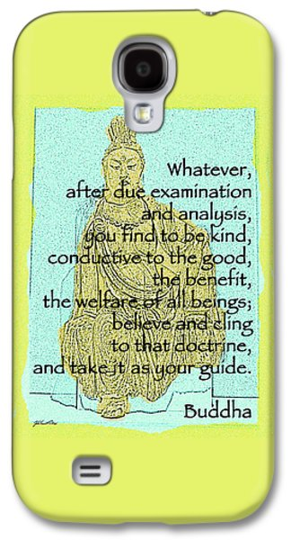 Buddha Quote 3 Galaxy S4 Case