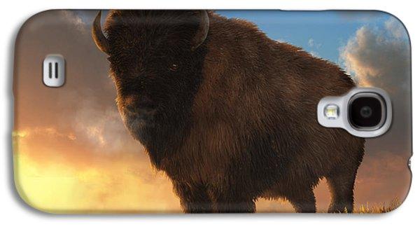 Buffalo At Dawn Galaxy S4 Case by Daniel Eskridge