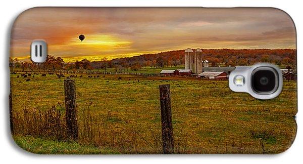 Buffalo Farm Sunset Galaxy S4 Case by Susan Candelario