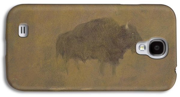 Buffalo In A Sandstorm Galaxy S4 Case by Albert Bierstadt