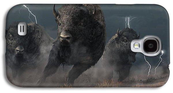 Buffalo Storm Galaxy S4 Case by Daniel Eskridge