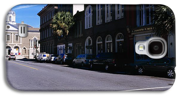 Buildings On Both Sides Of A Road Galaxy S4 Case by Panoramic Images