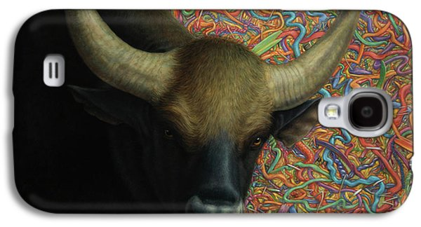Bull Galaxy S4 Case - Bull In A Plastic Shop by James W Johnson