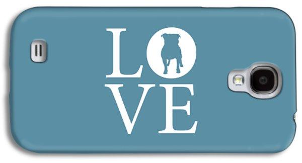 Bulldog Love Galaxy S4 Case by Nancy Ingersoll