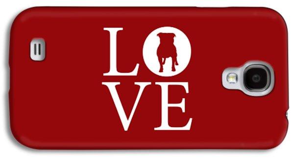 Bulldog Love Red Galaxy S4 Case by Nancy Ingersoll