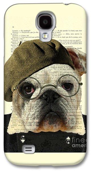 Bulldog Portrait, Animals In Clothes Galaxy S4 Case