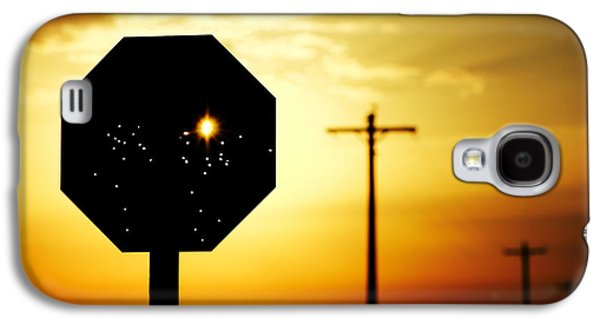 Bullet-riddled Stop Sign Galaxy S4 Case