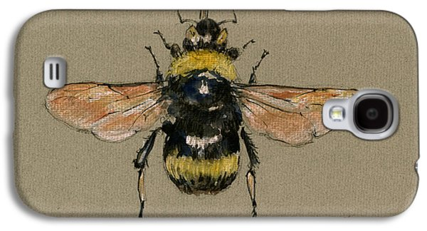 Bumble Bee Art Wall Galaxy S4 Case by Juan  Bosco