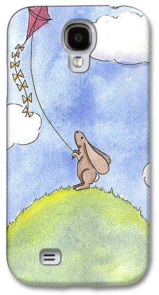 Bunny With A Kite Galaxy S4 Case by Christy Beckwith