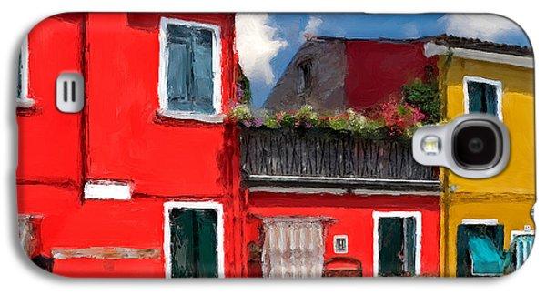 Burano Color Houses. Galaxy S4 Case by Juan Carlos Ferro Duque