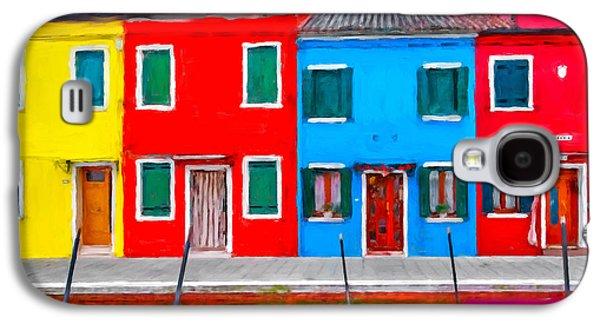 Burano Colorful Houses Galaxy S4 Case by Juan Carlos Ferro Duque