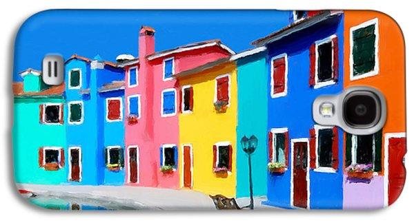 Burano Houses.  Galaxy S4 Case by Juan Carlos Ferro Duque