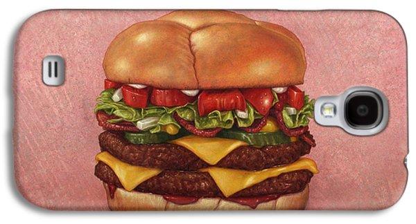 Burger Galaxy S4 Case by James W Johnson