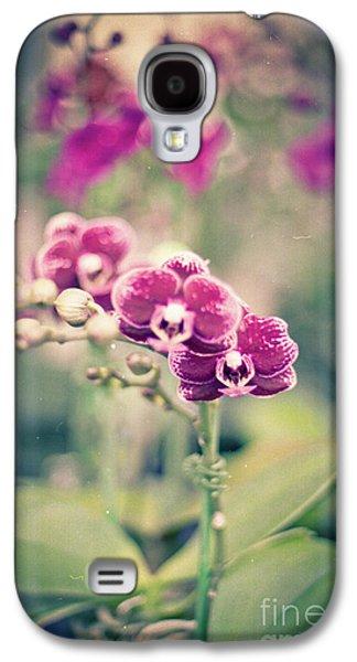 Burgundy Orchids Galaxy S4 Case by Ana V Ramirez