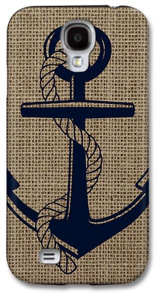 Burlap Anchor Galaxy S4 Case