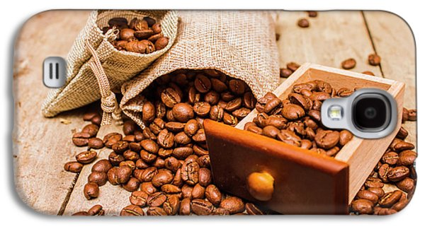 Burlap Bag Of Coffee Beans And Drawer Galaxy S4 Case by Jorgo Photography - Wall Art Gallery