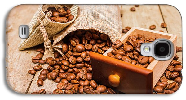 Burlap Bag Of Coffee Beans And Drawer Galaxy S4 Case