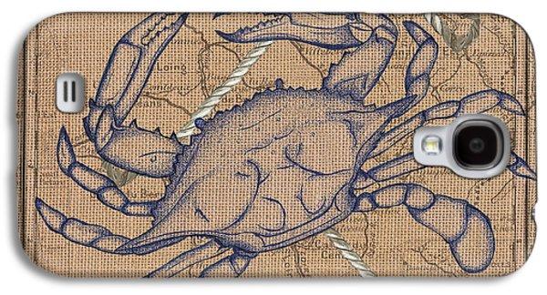 Burlap Blue Crab Galaxy S4 Case