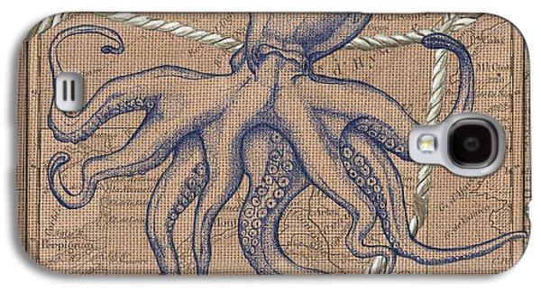 Burlap Octopus Galaxy S4 Case by Debbie DeWitt