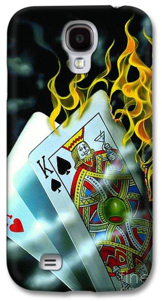 Burning Blackjack Galaxy S4 Case by Michael Godard