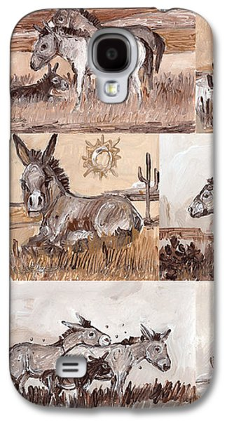 Burros Of The South West Sampler Galaxy S4 Case by Linda L Martin