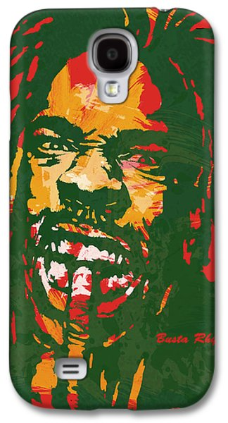 Busta Rhymes Pop Stylised Art Poster Galaxy S4 Case by Kim Wang