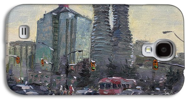 Downtown Galaxy S4 Case - Busy Morning In Downtown Mississauga by Ylli Haruni