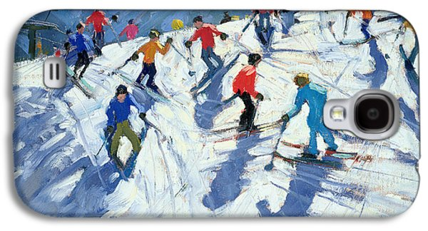 Busy Ski Slope Galaxy S4 Case by Andrew Macara