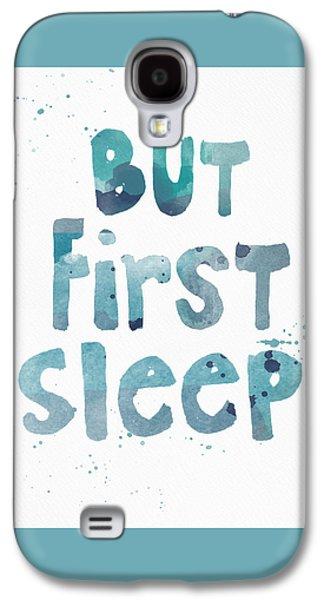 Pop Art Galaxy S4 Case - But First Sleep by Linda Woods
