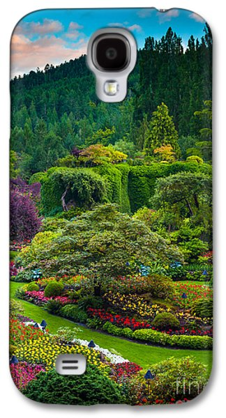 Butchart Gardens Sunset Galaxy S4 Case by Inge Johnsson