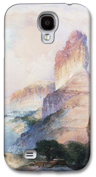 Butte Green River Wyoming Galaxy S4 Case by Thomas Moran