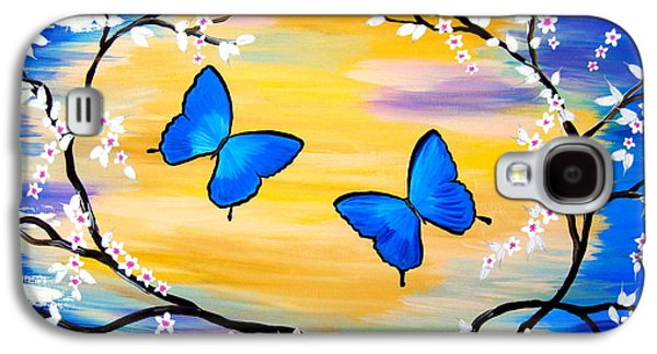 Butterfly Bliss Galaxy S4 Case by Cathy Jacobs