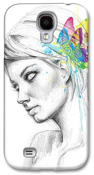 Butterfly Queen Galaxy S4 Case by Olga Shvartsur